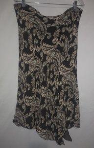 Merona Brown Tan Lined Skirt XL
